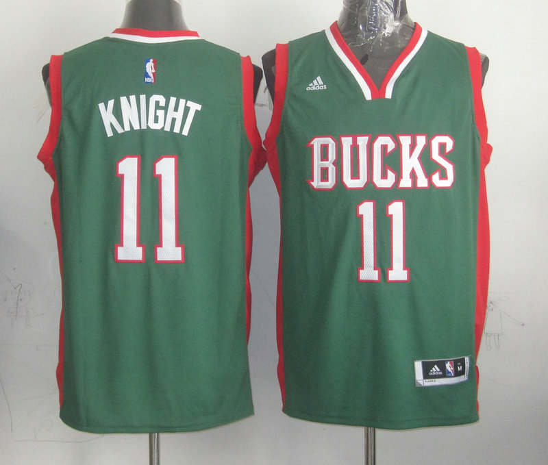 NBA Milwaukee Bucks 11 Knight Green 2015 Jerseys