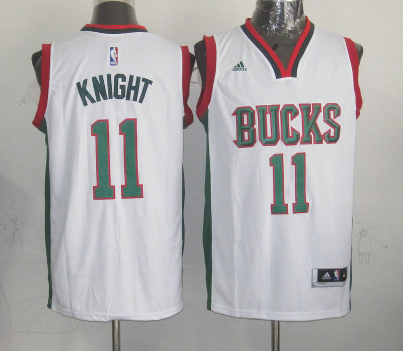 NBA Milwaukee Bucks 11 Knight White 2015 Jerseys