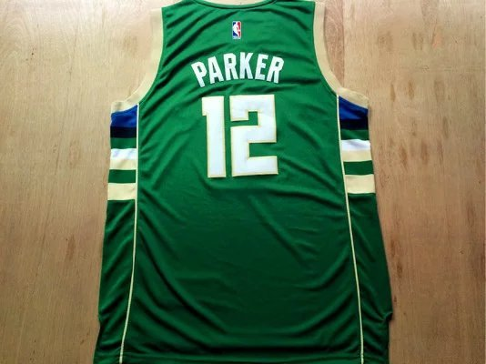NBA Milwaukee Bucks 12 Parker Green 2015 Jerseys