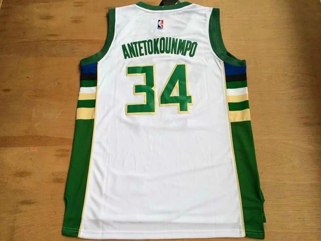 NBA Milwaukee Bucks 34 Antetokounmpo White 2015 Jerseys