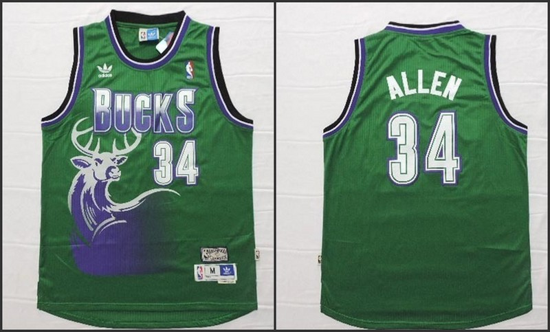 NBA Milwaukee Bucks 34 Ray Allen Green 2015 Jerseys