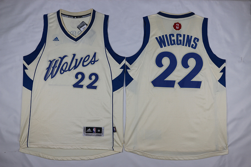 NBA Minnesota Timberwolves 22 Andrew Wiggins Gream 2015 Christmas Day Swingman Jersey