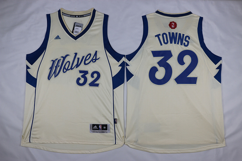 NBA Minnesota Timberwolves 32 Towns Gream 2015 Christmas Day Swingman Jersey
