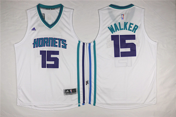 NBA New Orleans Hornets 15 Darrell Walker White 2015 Jerseys