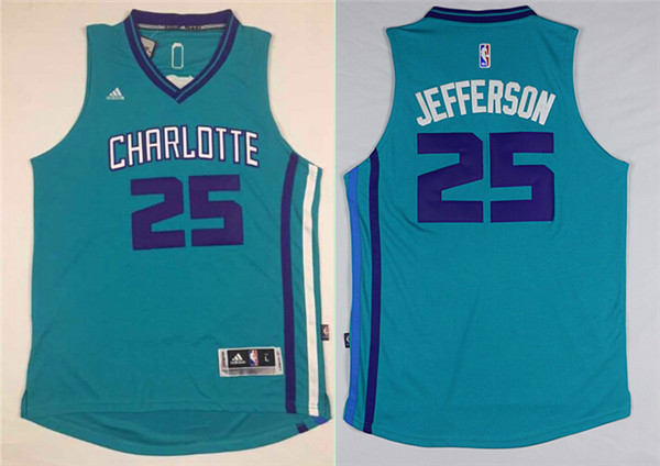 NBA New Orleans Hornets 25 Al Jefferson Green 2015 Jerseys
