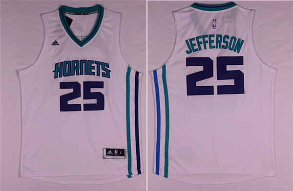 NBA New Orleans Hornets 25 Al Jefferson White 2015 Jerseys