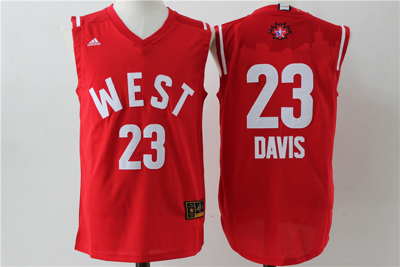 NBA New Orleans Pelicans 23 Anthony Davis 2016 NBA All Star jerseys