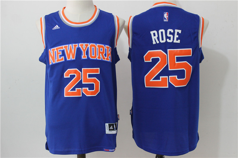 NBA New York Knicks 25 Rose Blue 2016 Jerseys