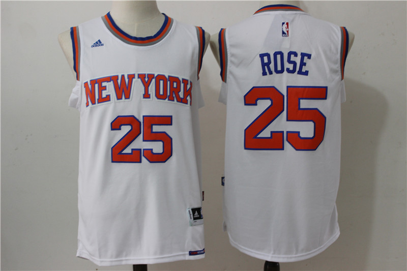 NBA New York Knicks 25 Rose white 2016 Jerseys