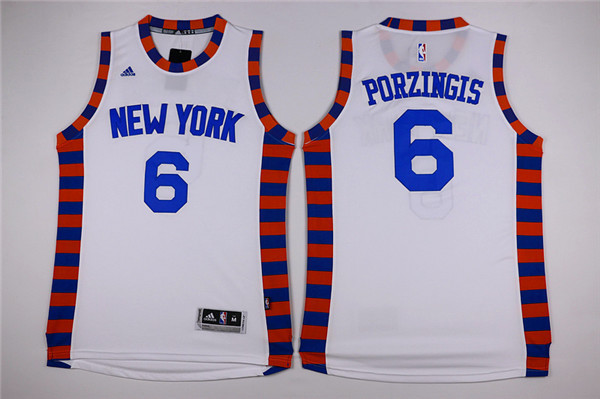 NBA New York Knicks 6 Kristaps Porzingis White1 2015 Jerseys.