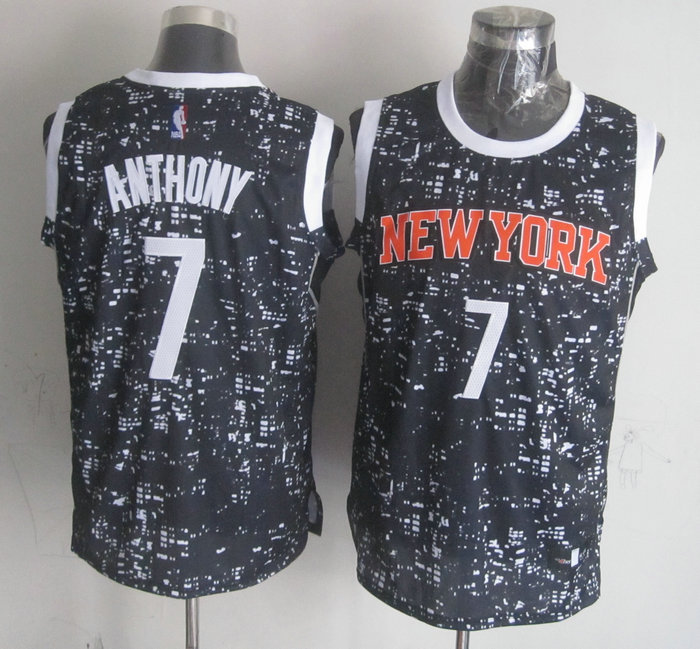 NBA New York Knicks 7 Anthony Black National Flag Star Jersey