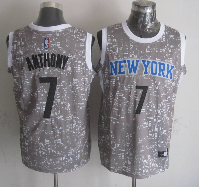 NBA New York Knicks 7 Anthony Grey National Flag Star Jersey