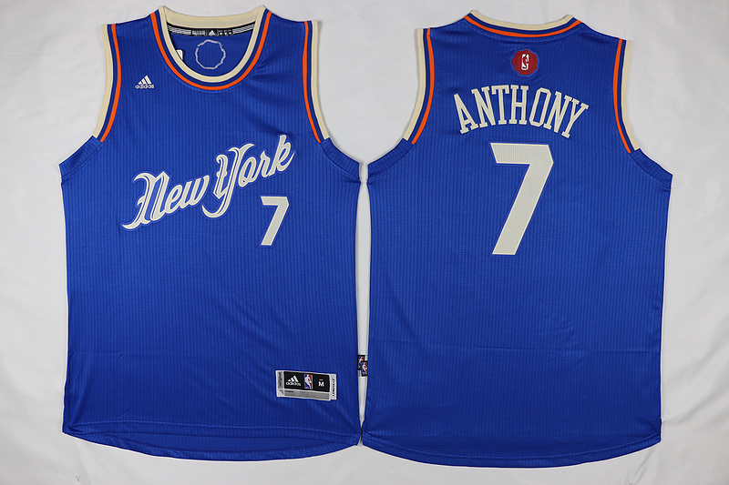 NBA New York Knicks 7 Carmelo Anthony Blue 2015 Christmas Day Swingman Jersey