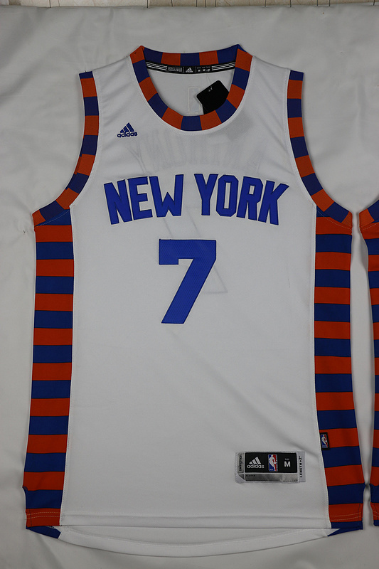 NBA New York Knicks 7 Carmelo Anthony White 2015 Jerseys