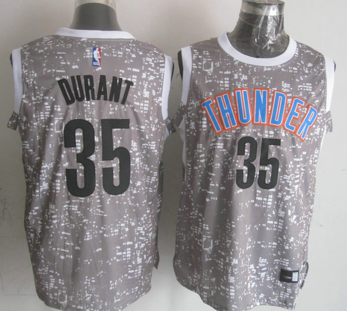 NBA Oklahoma City Thunder 35 durant Grey National Flag Star Jersey.