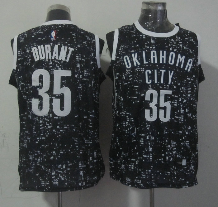 NBA Oklahoma City Thunder 35 durant black New National Flag Star Jersey