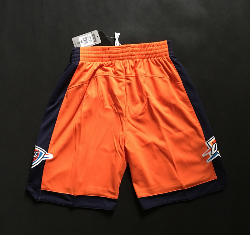 NBA Oklahoma City Thunder orange shorts