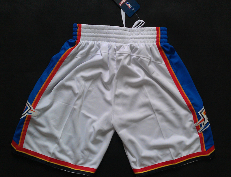 NBA Oklahoma City Thunder white shorts