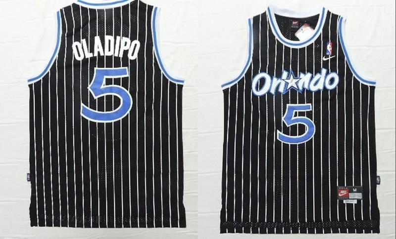 NBA Orlando Magic 5 Victor Oladipo Black 2015 Jerseys.
