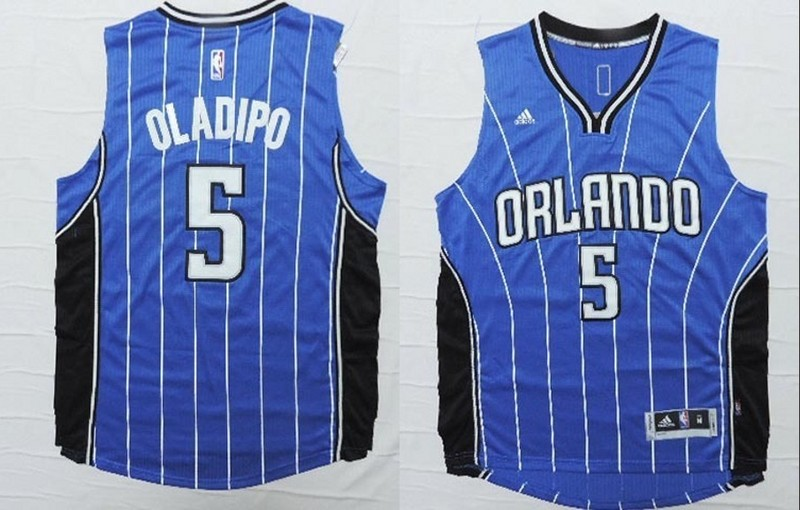 NBA Orlando Magic 5 Victor Oladipo Blue 2015 Jerseys