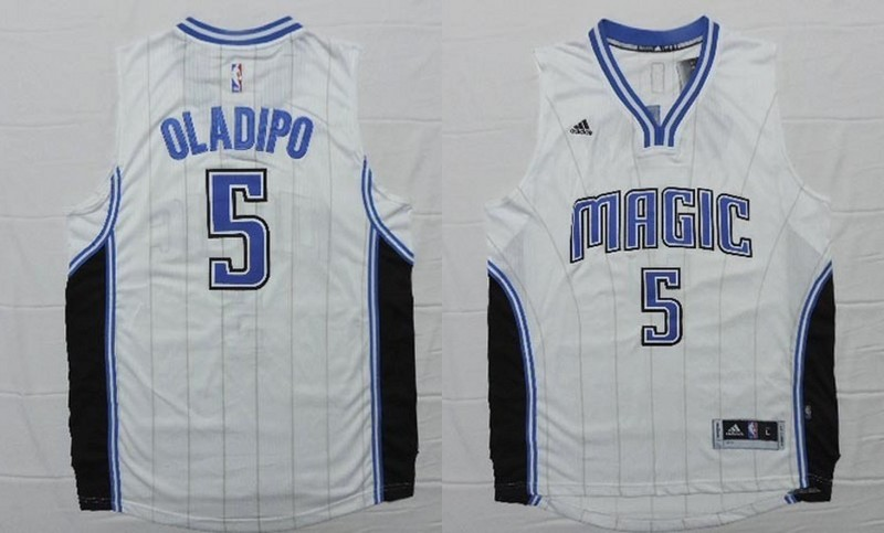 NBA Orlando Magic 5 Victor Oladipo White 2015 Jerseys