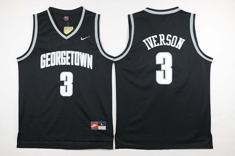 NBA Philadelphia 76ers 3 Iverson Black 2015 Jerseys