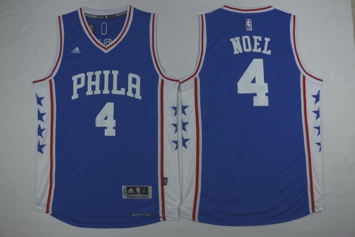 NBA Philadelphia 76ers 4 Noel Blue 2015 Jerseys
