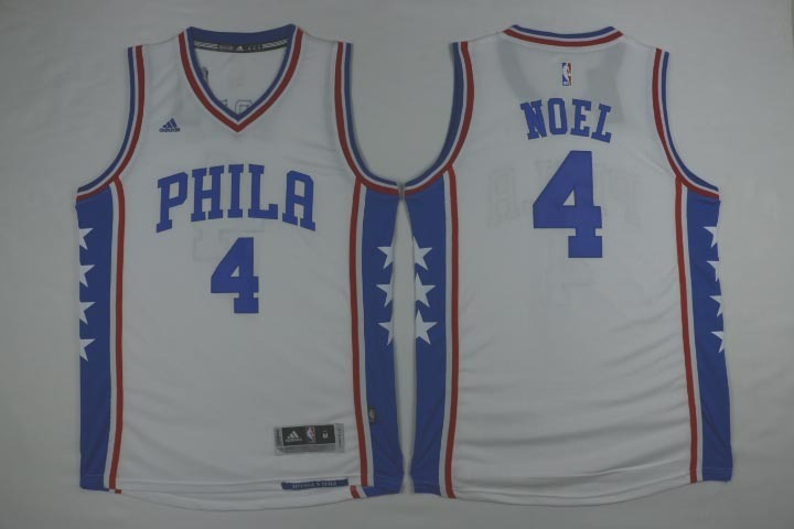 NBA Philadelphia 76ers 4 Noel White 2015 Jerseys