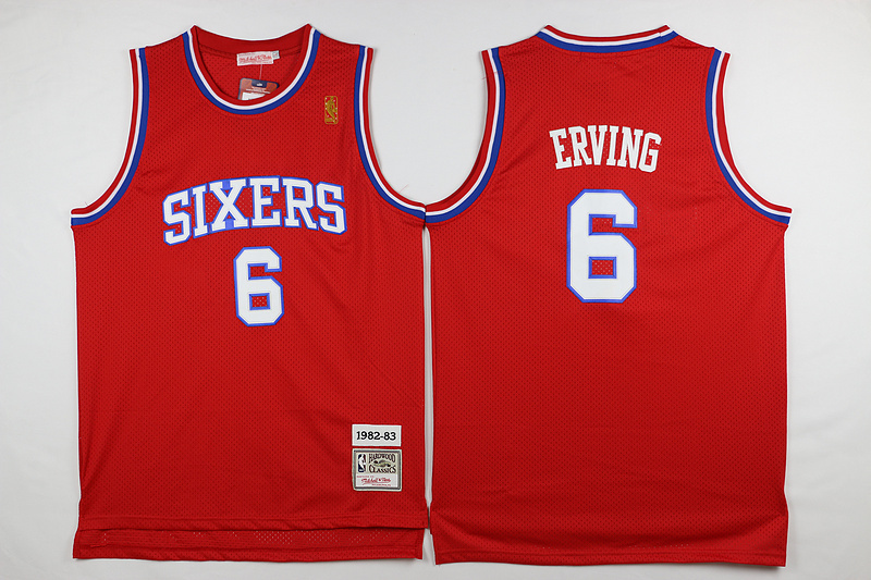NBA Philadelphia 76ers 6 Erving Red 2015 Jerseys.