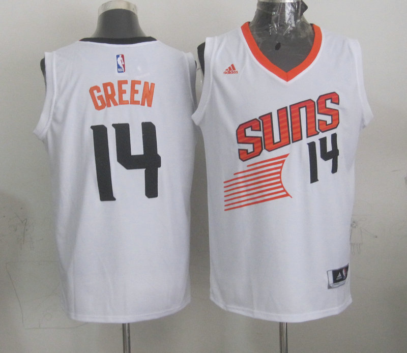 NBA Phoenix Suns 14 Green White 2015 Jerseys.