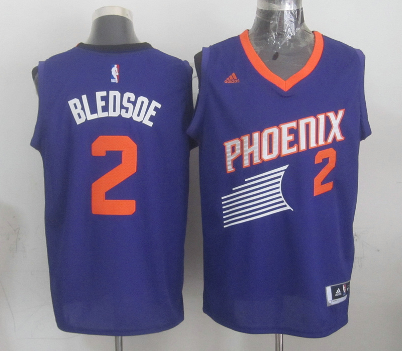 NBA Phoenix Suns 2 Eric Bledsoe Purple 2015 Jerseys