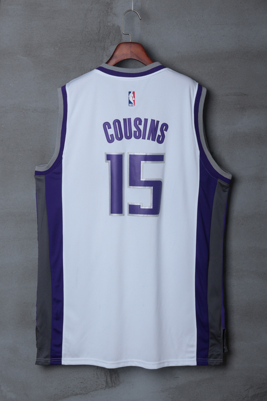NBA Sacramento Kings 15 DeMarcus Cousins White 2017 Jerseys