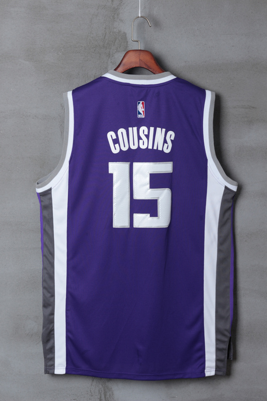 NBA Sacramento Kings 15 DeMarcus Cousins purple 2017 Jerseys