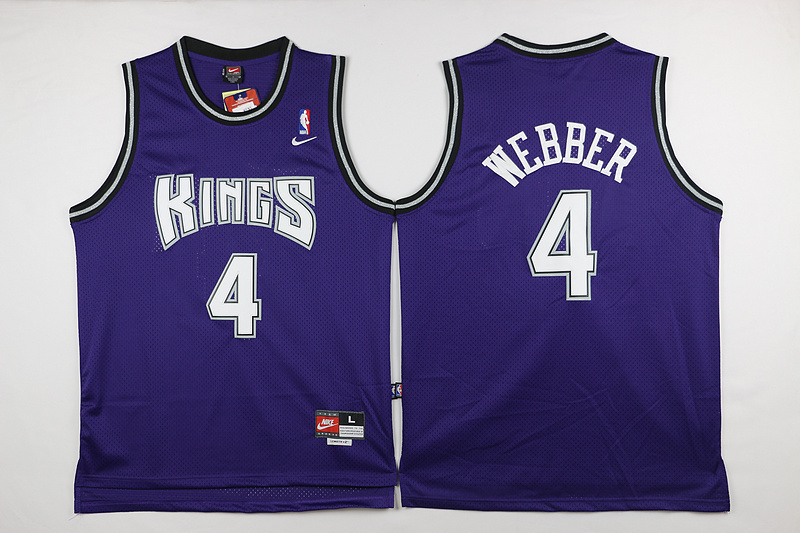NBA Sacramento Kings 4 Webber Purple 2015 Jerseys