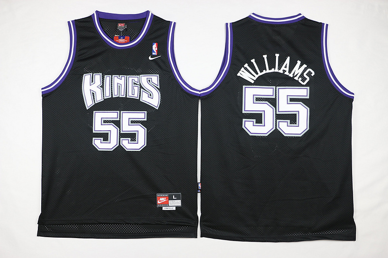 NBA Sacramento Kings 55 Jason Williams Black 2015 Jerseys