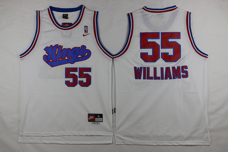 NBA Sacramento Kings 55 Williams White 2015 Jerseys