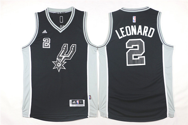 NBA San Antonio Spurs 2 Kawhi Leonard Black 2015 Jerseys
