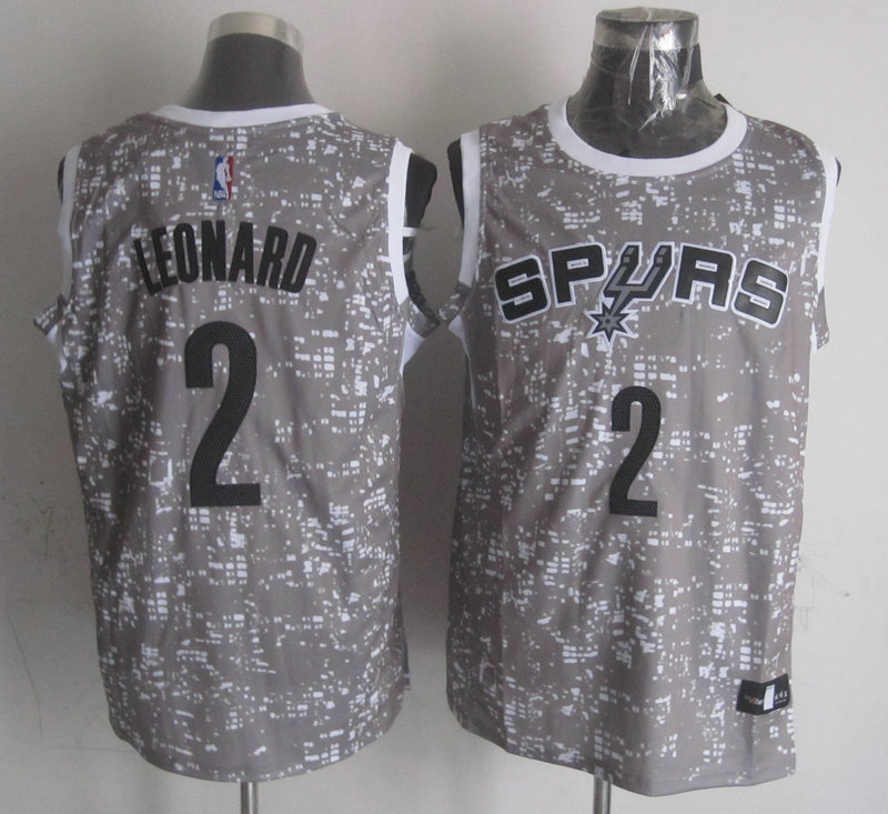 NBA San Antonio Spurs 2 leonard grey New National Flag Star Jersey