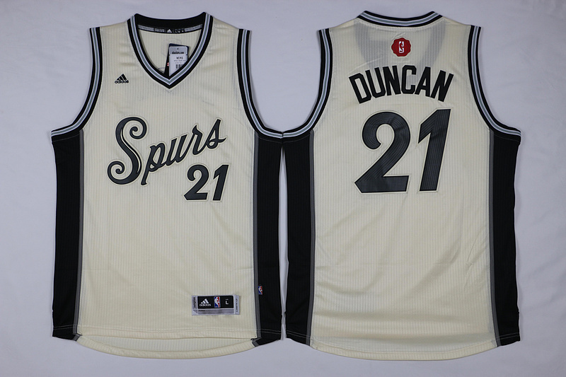 NBA San Antonio Spurs 21 Tim Duncan Gream 2015 Christmas Day Swingman Jersey