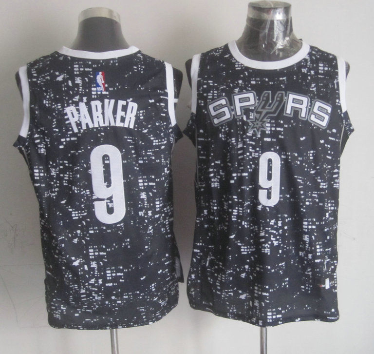 NBA San Antonio Spurs 9 parker black New National Flag Star Jersey