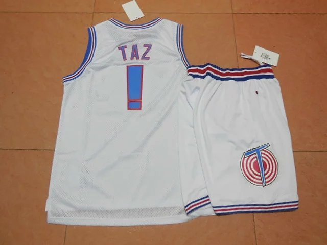 NBA Space Jam ! TAZ White Suit 2015 Jerseys