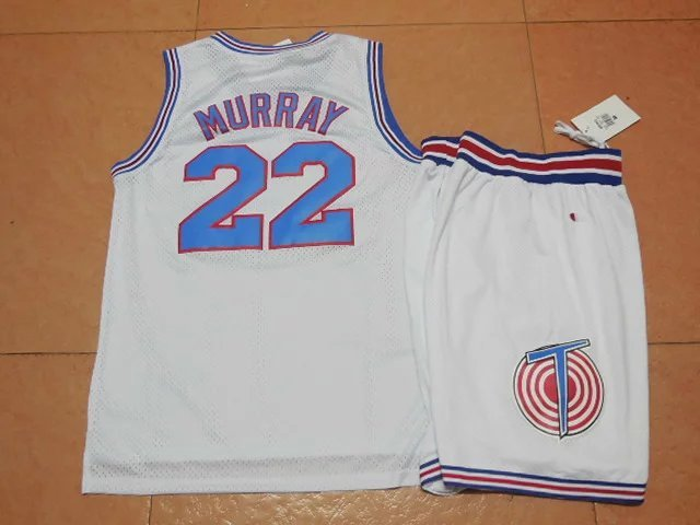 NBA Space Jam 22 Bill Murray White Suit 2015 Jerseys