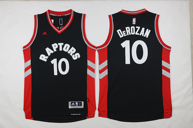 NBA Toronto Raptors 10 Derozan Black 2015 Jerseys