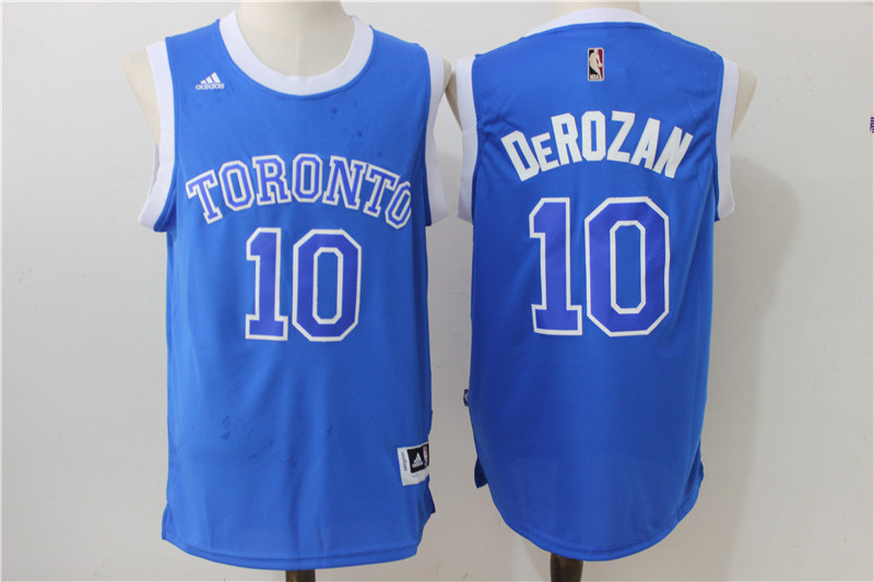 NBA Toronto Raptors 10 Derozan Blue 2016 Jerseys