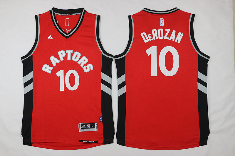 NBA Toronto Raptors 10 Derozan Red 2015 Jerseys