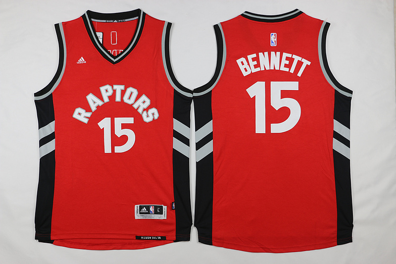 NBA Toronto Raptors 15 Bennett Red 2015 Jerseys