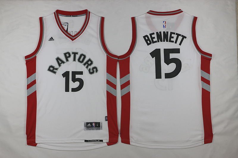 NBA Toronto Raptors 15 Bennett White 2015 Jerseys