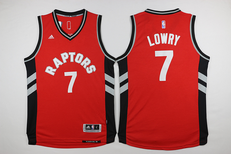 NBA Toronto Raptors 7 Kyle Lowry Red 2015 Jerseys