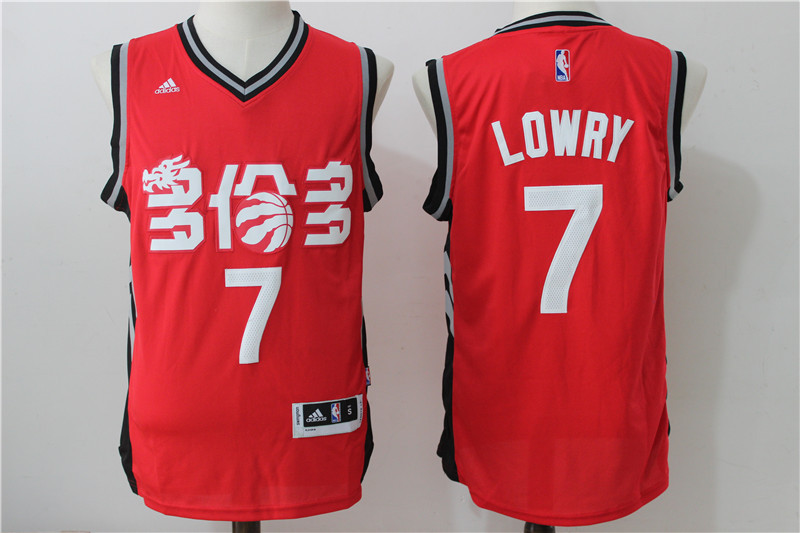 NBA Toronto Raptors 7 Lowry Red 2016 Jerseys