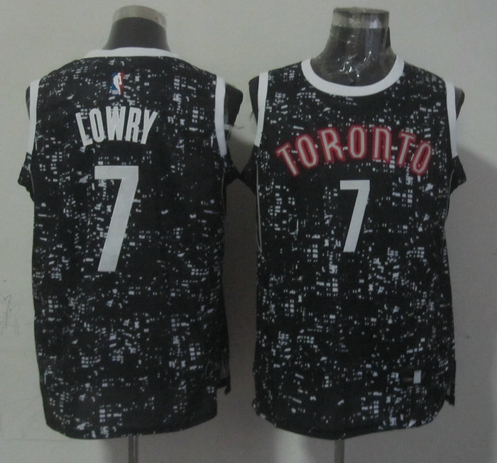 NBA Toronto Raptors 7 lowry black New National Flag Star Jersey